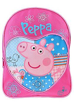 Love Heart Peppa Pig Backpack