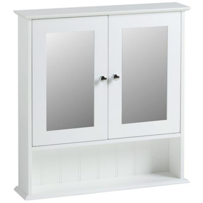 VonHaus Colonial Style Mirror White Cabinet for the Bathroom