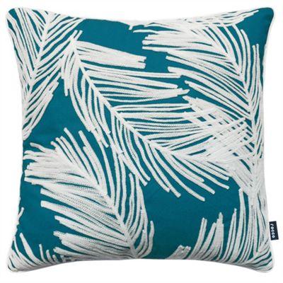 Rocco Palm Teal Cushion Cover - 43x43cm