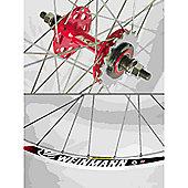 Momentum Solo 700c Wheel: Red Rear.