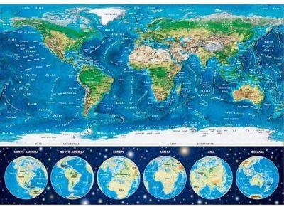 Neon World Map - 1000pc Puzzle
