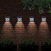 6 LED Decorative Wireless Garden Solar Lights Weatherproof Outdoor Fence Lamps x 2