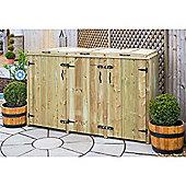 Wheelie Bin and Recycling Box Triple Chest Store - 1 x Wheelie Bin + 4 x Recycling Boxes