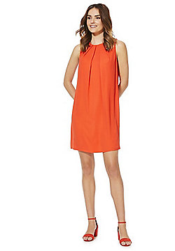 F&F Tie Back Shift Dress - Orange