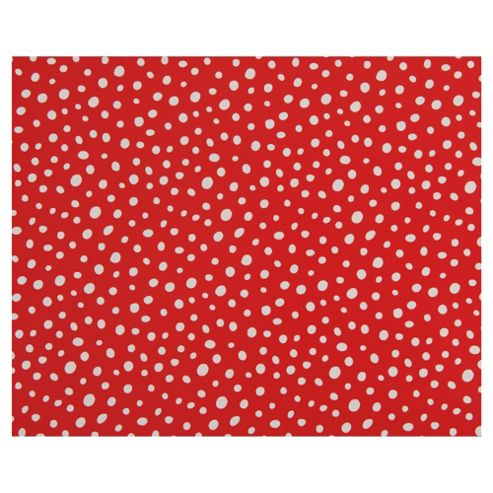 Tesco Red Polka Dot Christmas Wrapping Paper, 4m