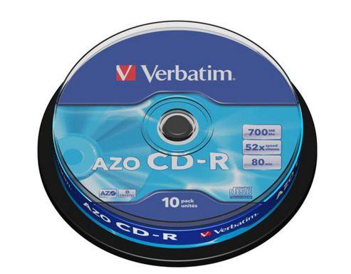 Verbatim 700 MB 80 min 52x 10 Pack CD-R
