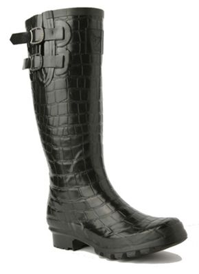 Evercreatures Luxe Ladies Wellies 3D Crocodile Pattern 8