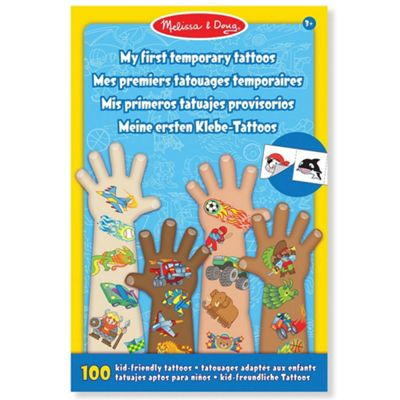 Melissa and Doug My First Temporary Tattoos Blue