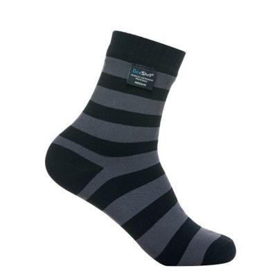 Dexshell Bamboo Ultralite Socks - Black / Grey Stripe (Large UK 9-11)