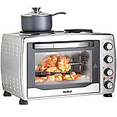 VonShef 36L Convection Mini Oven Grill Rotisserie & Double Hob Hot Plates