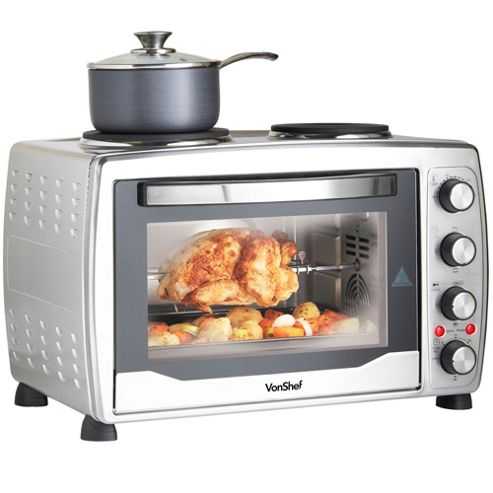 buy vonshef 36l convection mini oven grill rotisserie double hob hot plates from our electric. Black Bedroom Furniture Sets. Home Design Ideas