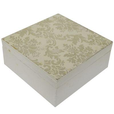 Damask - Storage / Display Box - White / Grey