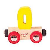 Bigjigs Rail Rail Name Number 0 (Yellow)