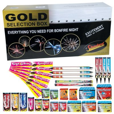 Gold Firework Selection Box