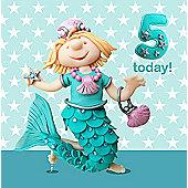 Holy Mackerel  age 5 Greetings Card
