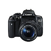 Canon EOS 750D SLR Camera Black 18-55mm IS STM 24MP 3.0Touch LCD FHD WiFi
