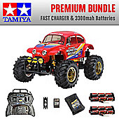 TAMIYA Monster Beetle RC Car Premium Bundle 2x Batteries Fast Charger 58618