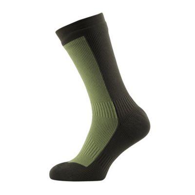 SealSkinz Hiking Mid Socks Olive Green Size: XL