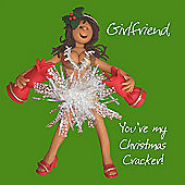 Holy Mackerel Happy Christmas Girlfriend. Your My Christmas Cracker Greetings Card
