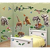 Walltastic Jungle Adventure Room Decor Kit - 54 Stickers