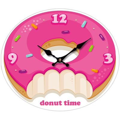 Puckator Donut Time Picture Clock