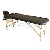Homcom Portable Massage Table Bed Foldable - Black