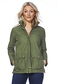 Regatta Landelina Concealed Hood Waterproof Jacket - Ivy green