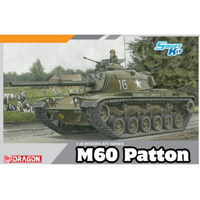 DRAGON M60 Patton Tank (smart Kit) 1:35 Tank Model Kit 3553
