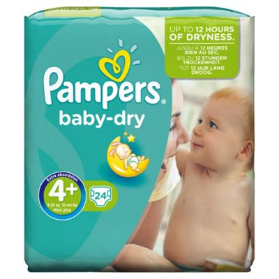 Pampers Baby Dry Size 4+ Carry Pack - 24 nappies