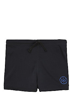F&F Surf Patch Swimming Trunks - Black