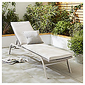 Tesco San Marino Rattan Garden Lounger with Cushion, Grey