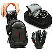 Navitech Black Digital Camera Case Bag For The Canon IXUS 285 HS 20.2 MP Compact Digital Camera Black