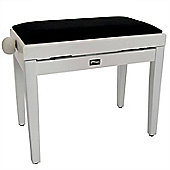 Tiger Classic High Gloss White Adjustable Piano Stool