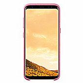 Samsung Galaxy S8 Plus Alcantara Back Cover - Pink