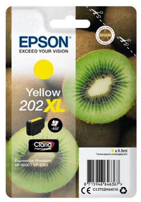 Epson 202XL 8.5ml 650pages Yellow ink cartridge 650 pages