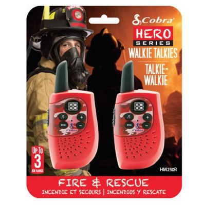 Cobra Hero Fire 3km 2-Way PMR Radio 2 Pack