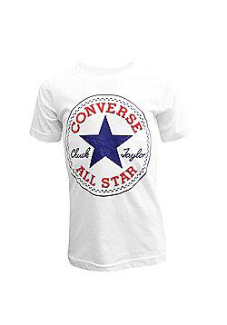 Converse Chuck Logo Junior Kids T-Shirt - White