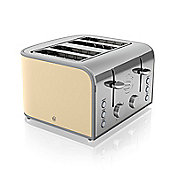 Swan Retro 4 Slice Toaster - Cream