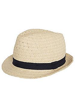 F&F Straw Trilby Hat - Beige