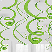 Lime Green Hanging Swirls Decorations - 55cm