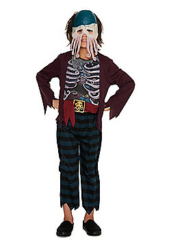 F&F Octopus Pirate Halloween Costume - Burgundy