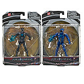 "Power Rangers Movie 5"" Action Figure Bundle - Blue Ranger & Black Ranger - 2 Items Supplied"