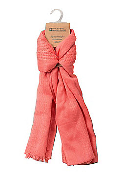 Mountain Warehouse Womens 100% Synthetic Fabric Lightweight Sandy Beach Scarf - Pink