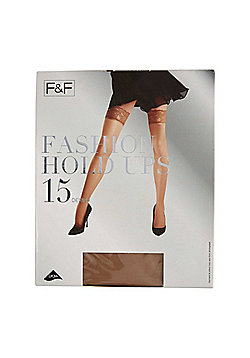 F&F Lace Top 15 Denier Hold-Ups with Lycra® - Natural