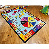 Pre-School, Nursery, Kids Educational Learning Rug - 200 x 300 cm