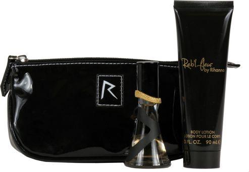 Rihanna Reb'l Fleur Gift Set 15ml EDP + 30ml Body Lotion + Pouch For Women
