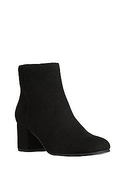 F&F Sensitive Sole Faux Suede Ankle Boots - Black