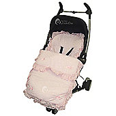 Broderie Anglaise Frilly Footmuff To Fit Quinny Zapp Pink
