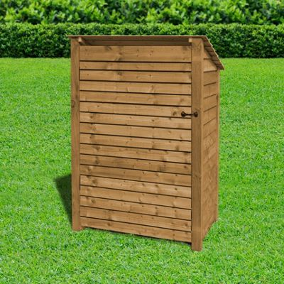 Greetham wooden reverse roof log store with doors - 6ft