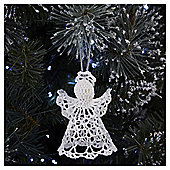 White Crochet Angel Christmas Tree Decoration